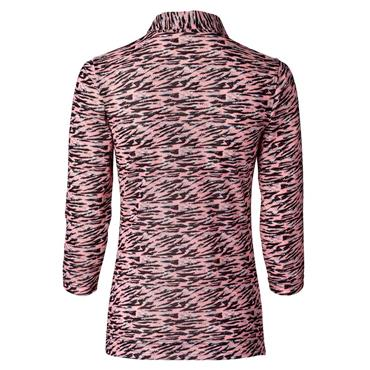 Daily Sports Ladies Wear Elsie ¾ Sleeve Polo Shirt Pink