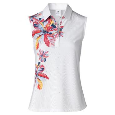 Daily Sports Ladies Wear Nance Sleeveless Polo Shirt White