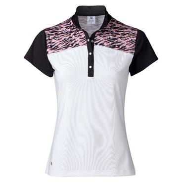 Daily Sports Ladies Wear Elsie Cap Sleeve Polo Shirt White