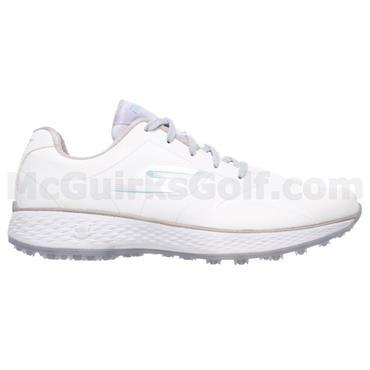 Skechers Ladies Go Golf Birdie Tour Golf Shoes White - Blue - Silver