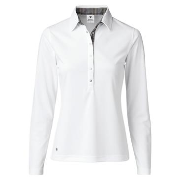 Daily Sports Ladies Wear Luna Long Sleeve Polo Shirt White
