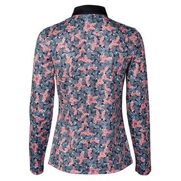 Daily Sports Ladies Wear Malia Long Sleeve Polo Shirt Navy