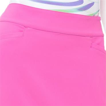 EPNY Ladies 19-Inch Tech Stretch Skort With Ribbon Pink Smoothie