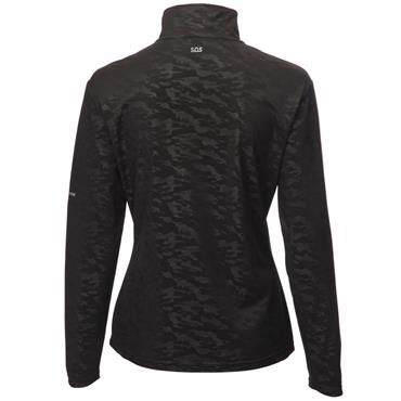Swing Out Sister Ladies Dawn 1/4 Zip Turtle Neck Black Camoflage