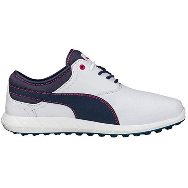 100% authenticated top-rated cheap lowest price Puma Ladies Ignite Spikeless Golf Shoes White - Peacoat - Rose Red