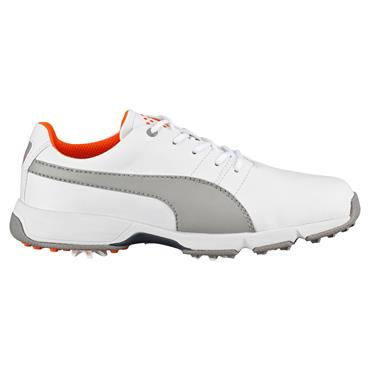 Puma Junior Titan Tour Cleated Golf Shoes White - Drizzle