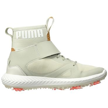 Puma Junior Ignite PwrAdapt Tour Hi-Top Shoes Grey - Silver