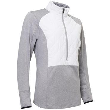 Abacus Ladies Troon Hybrid 1/2 Zip Jacket Grey Melange