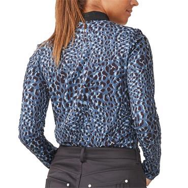 Rohnisch Ladies Spot Polo Shirt Blue Spot
