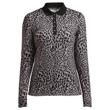 Rohnisch Ladies Spot Polo Shirt Greige Spot