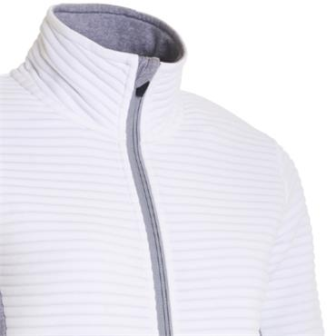 Abacus Ladies Budock Fullzip Fleece White