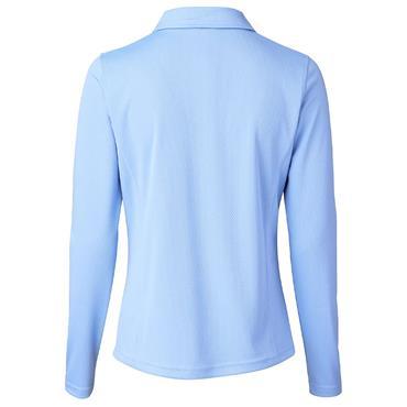 Daily Sports Wear Ladies Macy Long Sleeve Polo Shirt Light Blue