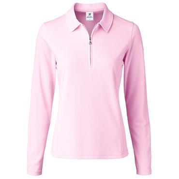 Daily Sports Wear Ladies Macy Long Sleeve Polo Shirt Love (Light Pink)