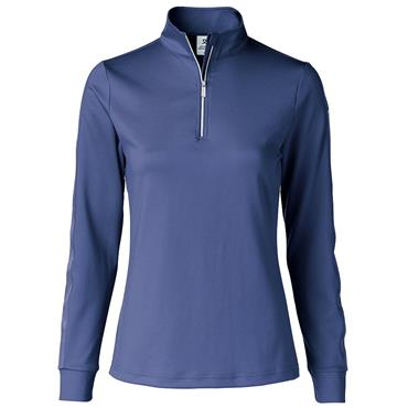 Daily Sports Wear Ladies Anna Long Sleeve ½ Zip Neck Top Baltic