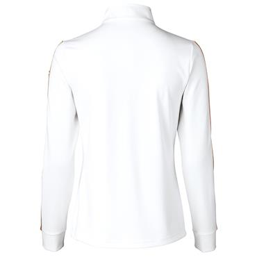 Daily Sports Wear Ladies Anna Long Sleeve ½ Zip Neck Top White