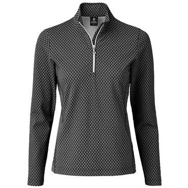 Daily Sports Wear Ladies Honey ½ Zip Neck Top Black