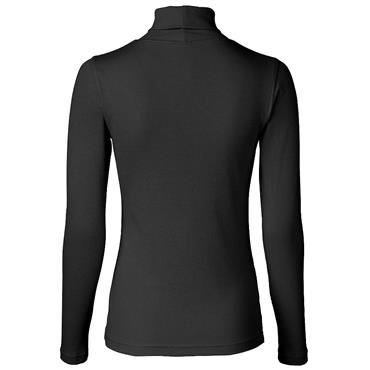Daily Sports Wear Ladies Maggie Long Sleeve Roll Neck Top Black