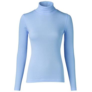 Daily Sports Wear Ladies Maggie Long Sleeve Roll Neck Top Blue