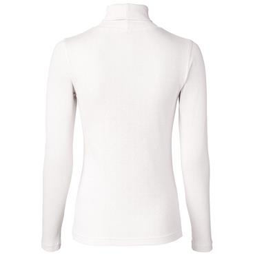 Daily Sports Wear Ladies Maggie Long Sleeve Roll Neck Top White