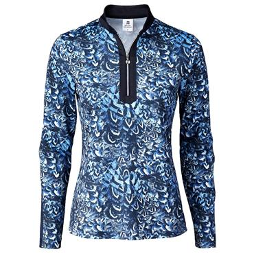 Daily Sports Wear Ladies Silja Long Sleeve Polo Shirt Silja Blue