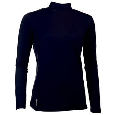 Abacus Ladies Slope Longsleeve Polo Shirt Black