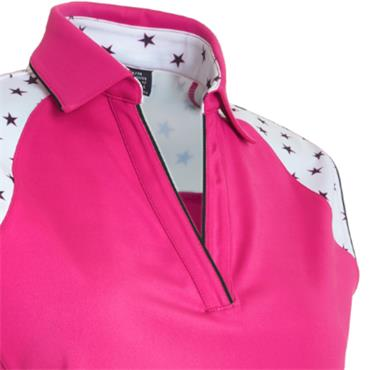 Abacus Ladies Emy Sleeveless Polo Pink
