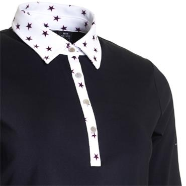 Abacus Ladies Emy Polo 1/2 Sleeve Black Star