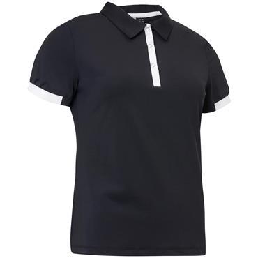 Abacus Ladies Cherry Polo Shirt Black