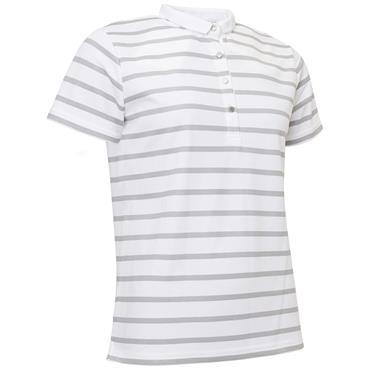Abacus Ladies Ellers Cup Sleeve Polo Shirt Grey Melange
