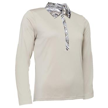 Abacus Ladies Crail Long Sleeve Polo Shirt Sandshell