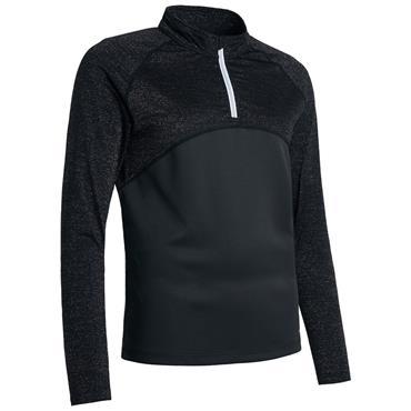 Abacus Ladies Tina Long Sleeve ¼ Zip Top Black