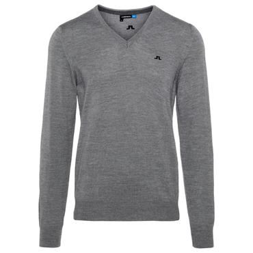 J.Lindeberg Gents Lymann Tour Merino Knitted Sweater Grey Melange