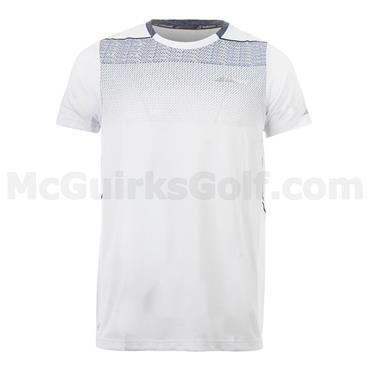 Babolat Junior - Boys Crew Neck Tennis Shirt White - Grey - Navy