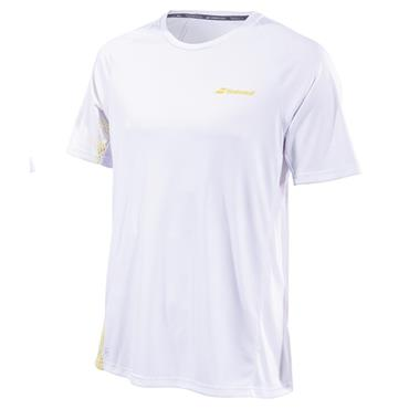 4c7c50adf853 Babolat Junior-Boys Performance Crew Neck T-Shirt White - Yellow ...