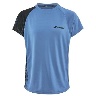 Babolat Junior-Boys Performance Crew Neck T-Shirt Blue - Black