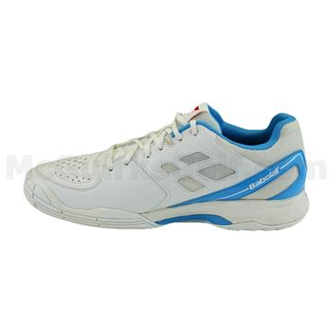 Babolat Gents Pulsion Omni Clay Tennis Shoes White - Blue