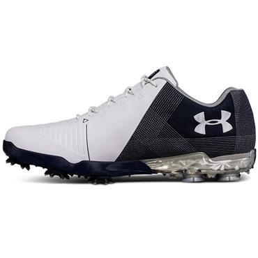 Under Armour Gents Spieth 2 Golf Shoes White - Academy - Steel