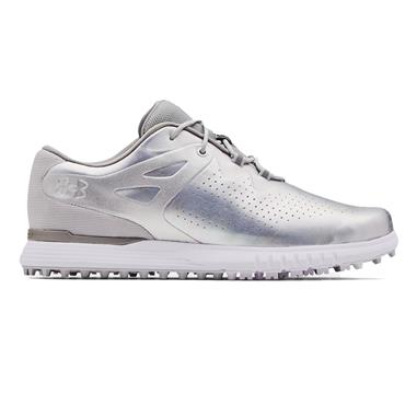 Under Armour Ladies Charged Breathe Spikeless Shoes White 100