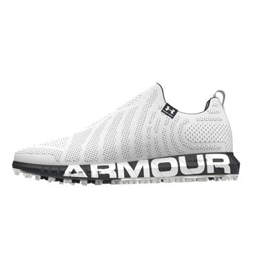 Under Armour Gents HOVR Knit Spikeless Shoes White