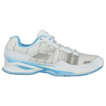Babolat Ladies Jet Mach Omni Clay Tennis Shoes White - Sky Blue