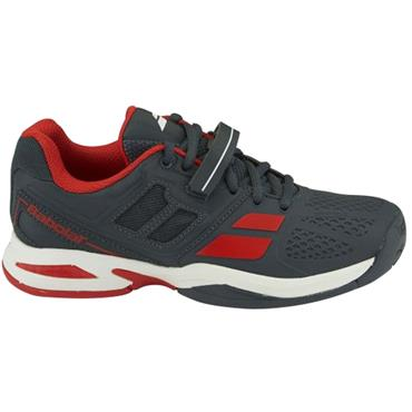 Babolat Propulse All Court Junior Tennis Shoes Grey - Red