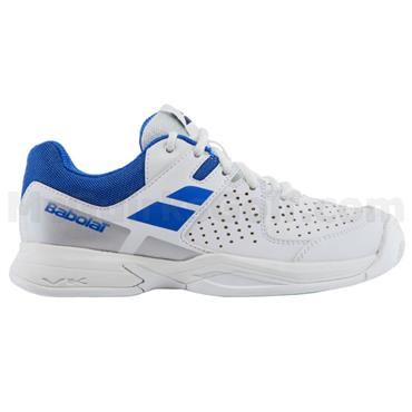 Babolat Junior Pulsion All-Court Tennis Shoes White - Blue