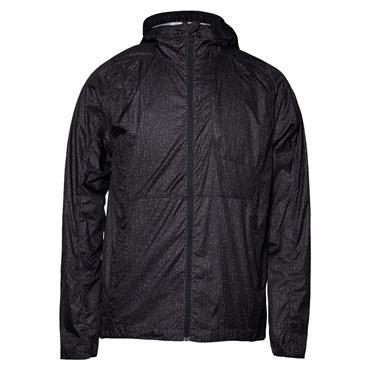 J.Lindeberg Gents Hooded Wind Pro Jacket Black Wave Print