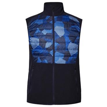 J.Lindeberg Gents Hybrid Mixed Poly Vest Blue Eclipse