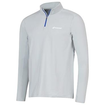 Babolat Tennis Gents Core 1/2 Zip Top Grey
