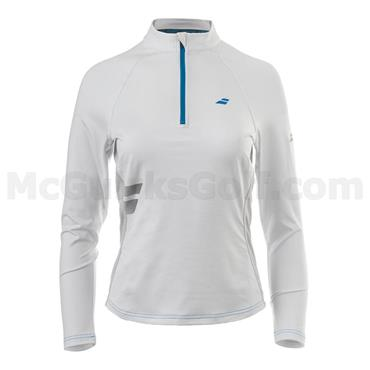Babolat Ladies 1/2 Zip Tennis Top White