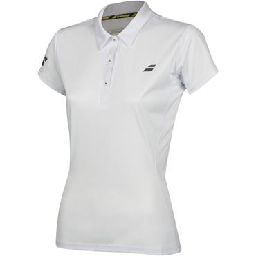 Babolat Ladies Core Club Tennis Polo White