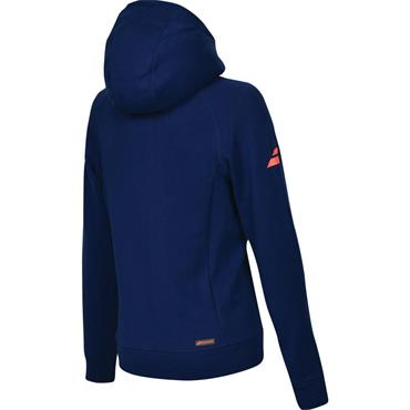 Babolat Ladies Core Hood Tennis Estate Blue Sweater