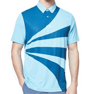 Oakley Gents Geometric Swing Polo Blue