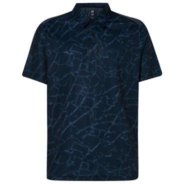 Oakley Gents Broken Glass Polo Shirt Black 94T